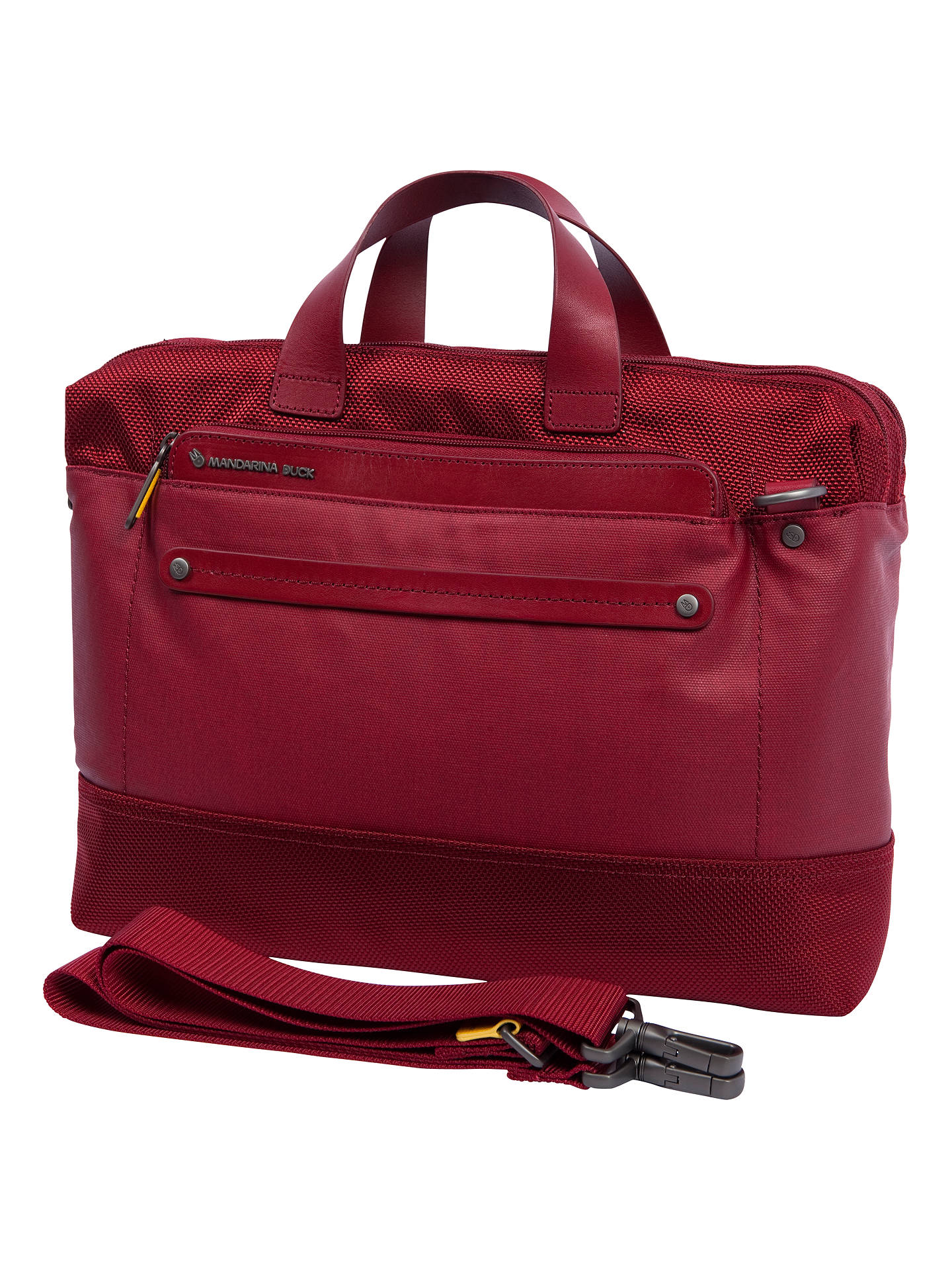 Mandarina duck cabrio 13 3 laptop and tablet briefcase red medium at john lewis partners - Mandarina home online ...