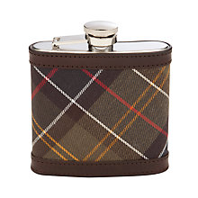 Buy Barbour Stainless Steel Tartan Cover Hip Flask, Brown Online at johnlewis.com