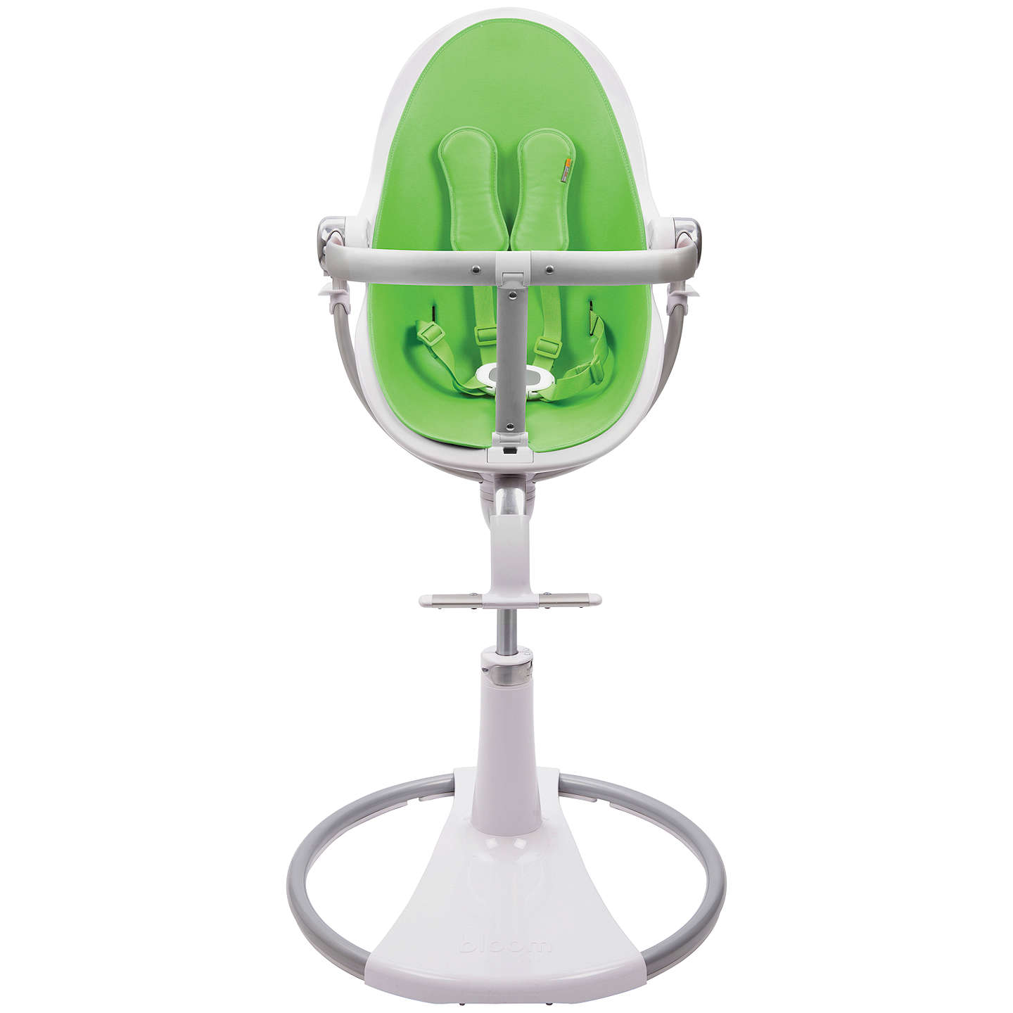 Buybloom Fresco Chrome Contemporary Leatherette Baby Chair, White, Gala Green Online at johnlewis.com
