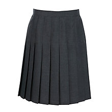 Buy Girl's School Pleat Skirt, Grey Online at johnlewis.com