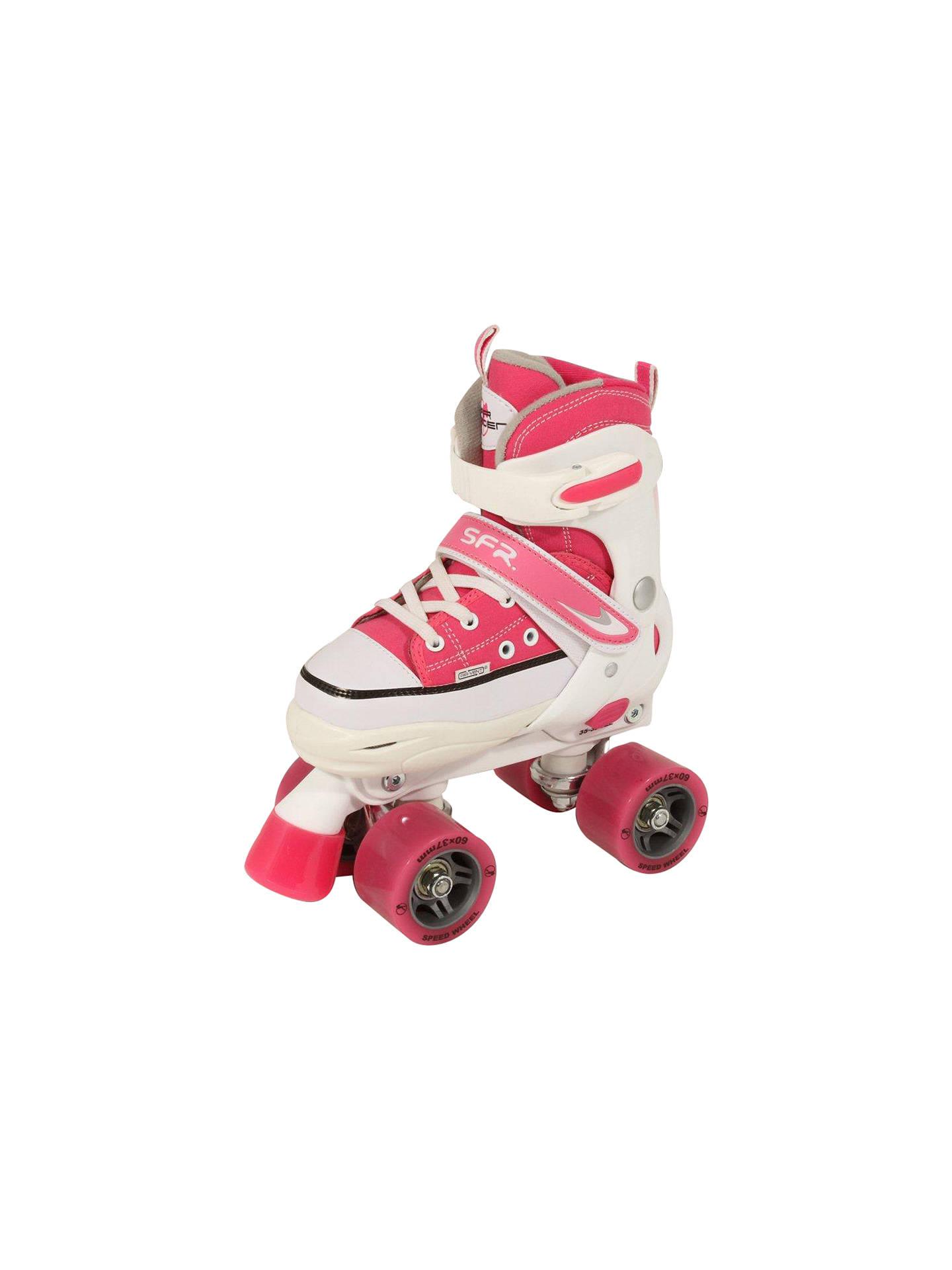 ab5d2612 Buy SFR Miami Children's Adjustable Quad Roller Skates, Pink, 12 Jnr-2  Online