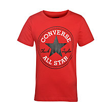 Buy Converse Boys' Chuck Patch T-Shirt, Red Online at johnlewis.com