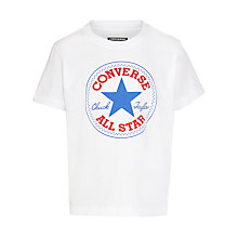 Buy Converse Boys' Chuck Patch T-Shirt, White Online at johnlewis.com