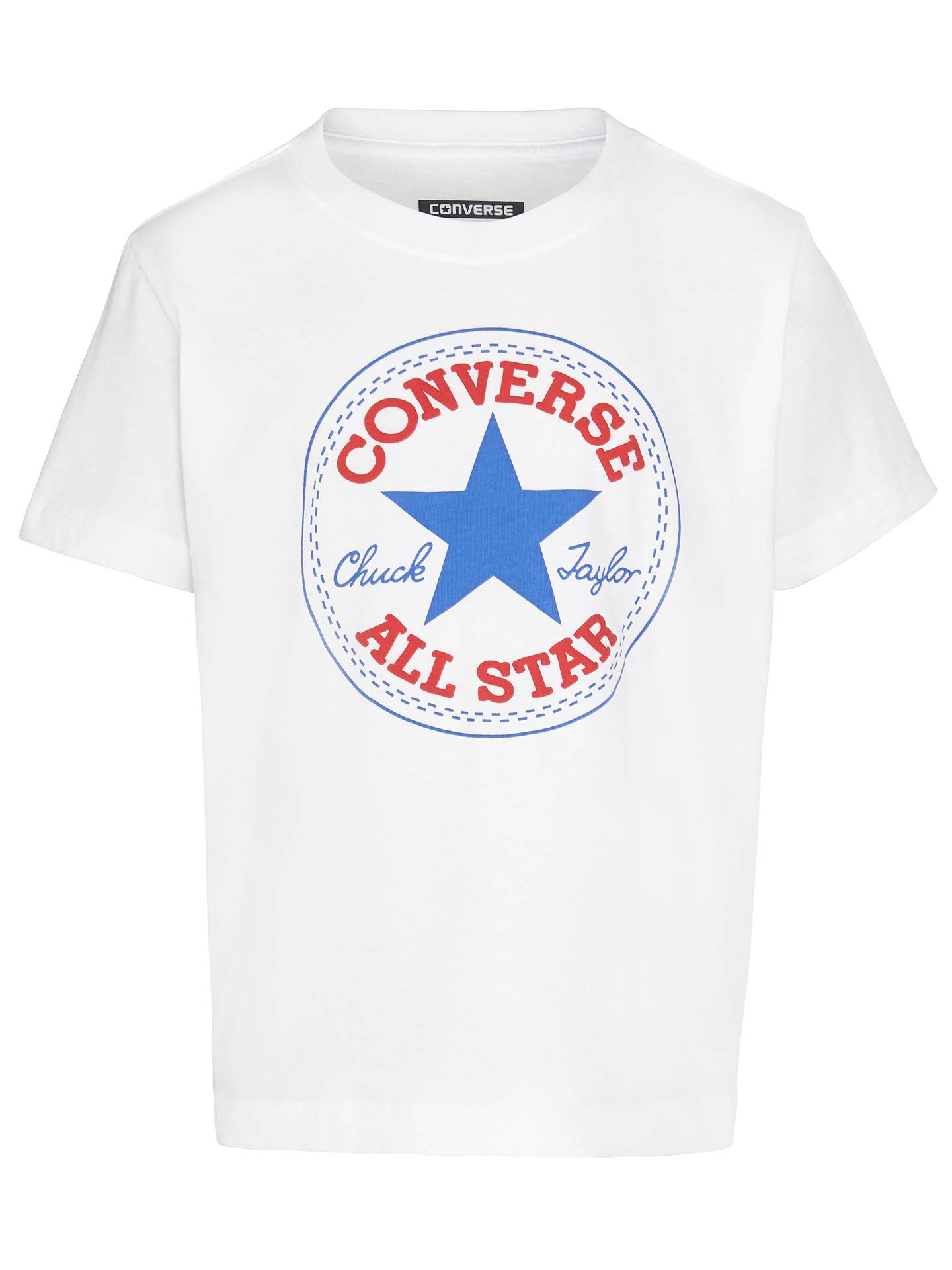 4a532773 Converse Boys' Chuck Patch T-Shirt, White at John Lewis & Partners