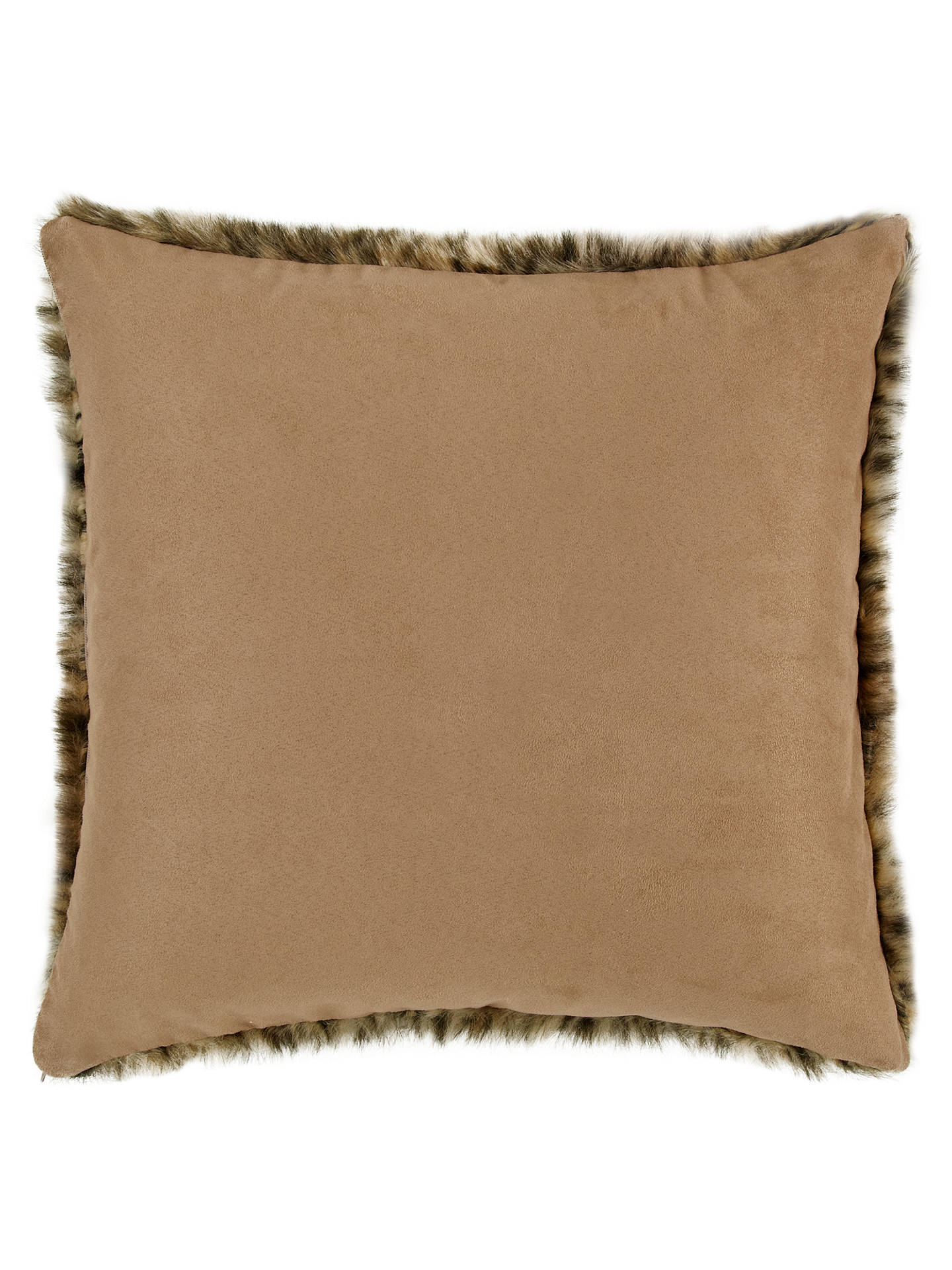 Buy John Lewis Faux Fur Cushion, Multicoloured Online at johnlewis.com