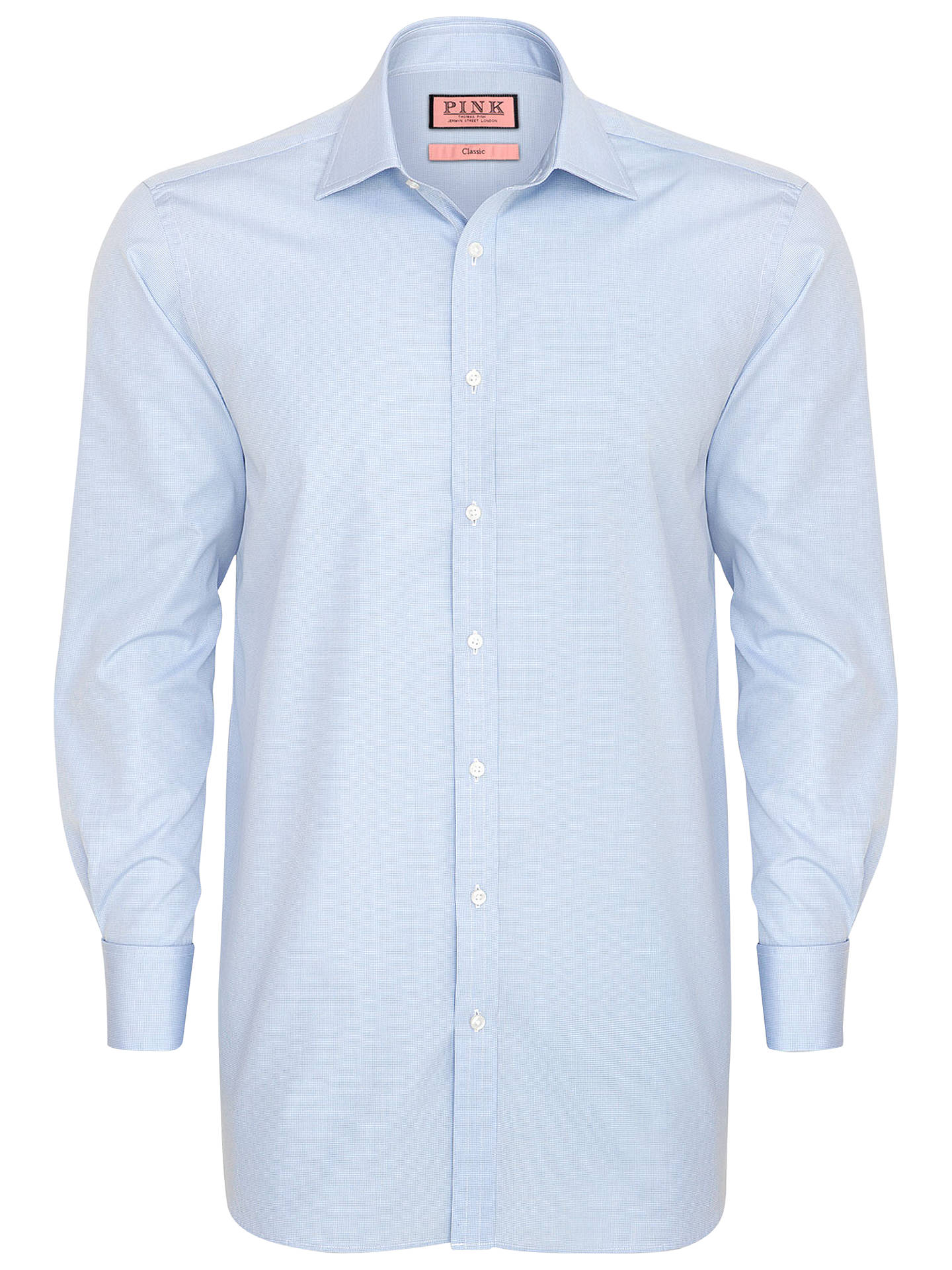 Buy Thomas Pink Houndstooth Long Sleeve Shirt, Blue, 14.5 Online at johnlewis.com