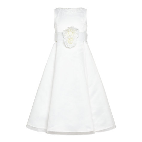 Buy John Lewis Girls' Organza Bridesmaid Dress, Ivory Online at johnlewis.com