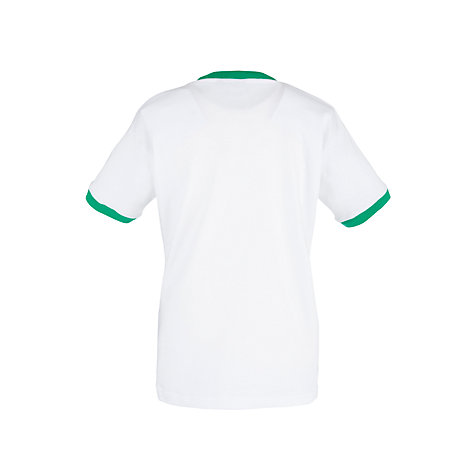 Buy School Unisex Gym T-Shirt with Trim, White/Green | John Lewis