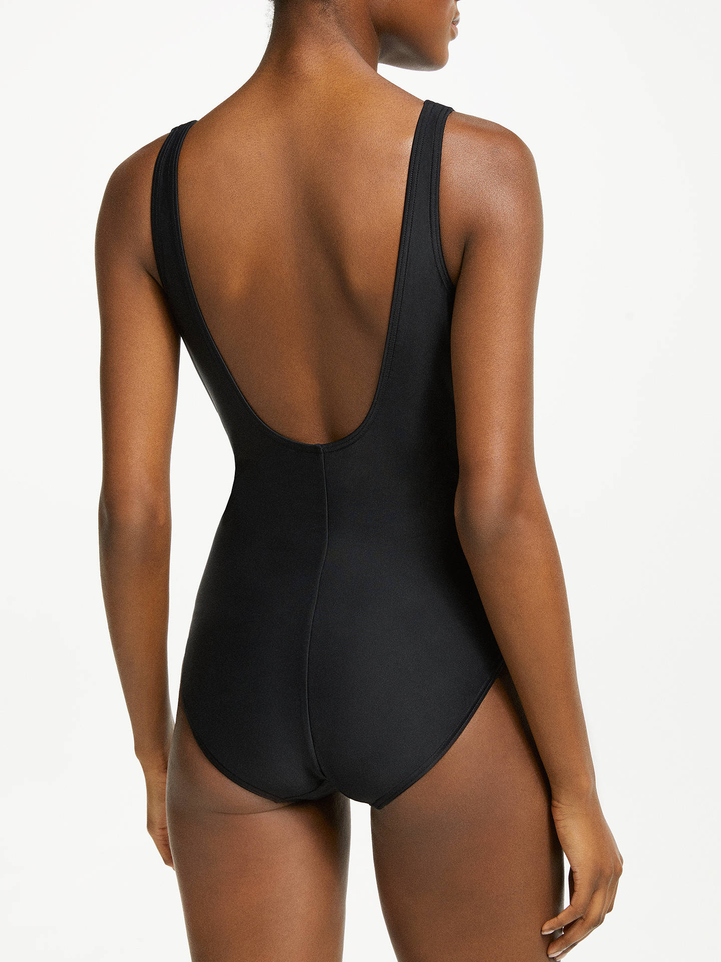 BuyJohn Lewis & Partners Control Twist Front Swimsuit, Black, 10 Online at johnlewis.com