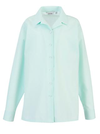 Copthall School Girls' Long Sleeved Blouse, Pack of 2, Mint