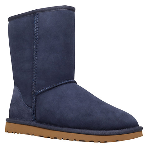 Buy UGG Classic Short Boots, Navy Online at johnlewis.com