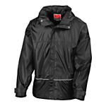 School Waterproof Jacket, Black