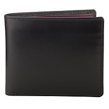 Buy Launer Made in England Leather Bi-Fold 8 Card Wallet, Black Online at johnlewis.com