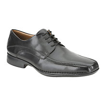 Buy Clarks Frances Air Leather Derby Shoes, Black Online at johnlewis.com