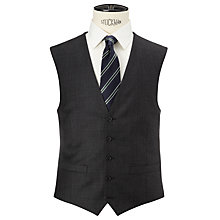 Buy John Lewis Regular Fit Sharkskin Waistcoat, Charcoal Online at johnlewis.com