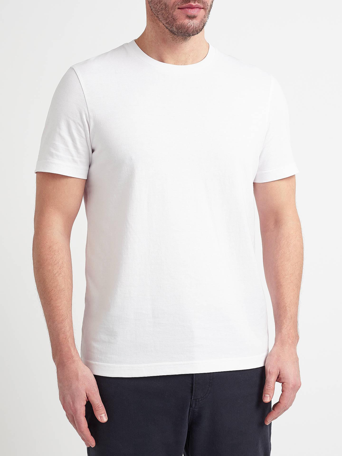 dea50631d515 Buy John Lewis & Partners Organic Cotton T-Shirt, White, S Online at ...