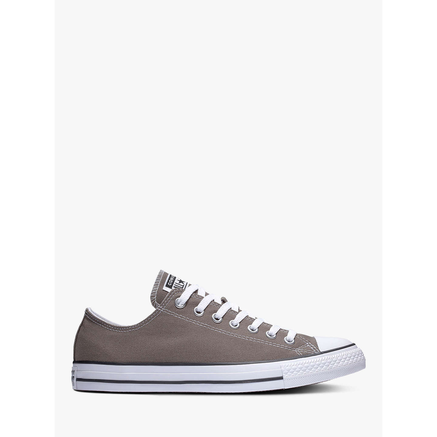 BuyConverse Chuck Taylor All Star Canvas Ox Low-Top Trainers, Charcoal, 7 Online at johnlewis.com