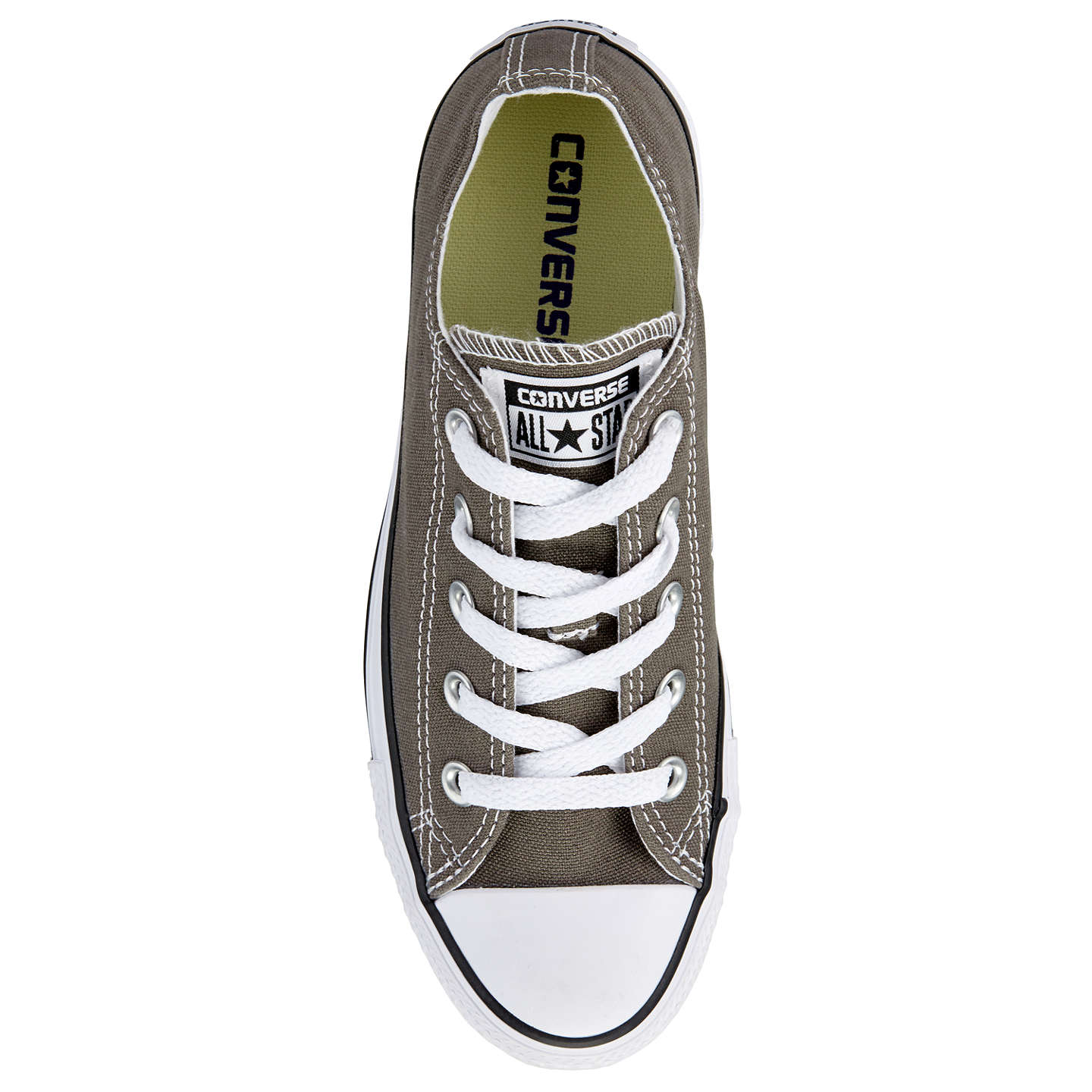 BuyConverse Chuck Taylor All Star Canvas Ox Low-Top Trainers, Charcoal, 5 Online at johnlewis.com