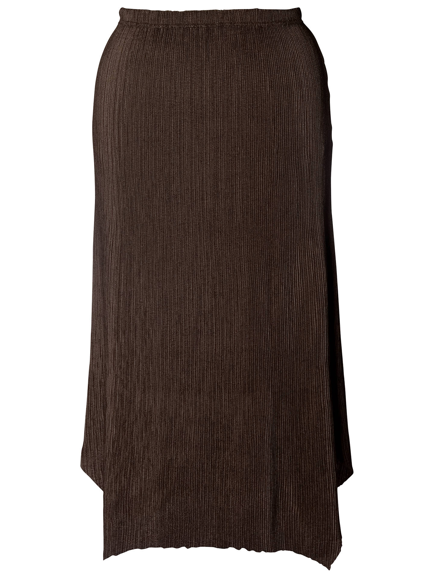 BuyChesca Double Pleated Skirt, Brown, 12 Online at johnlewis.com