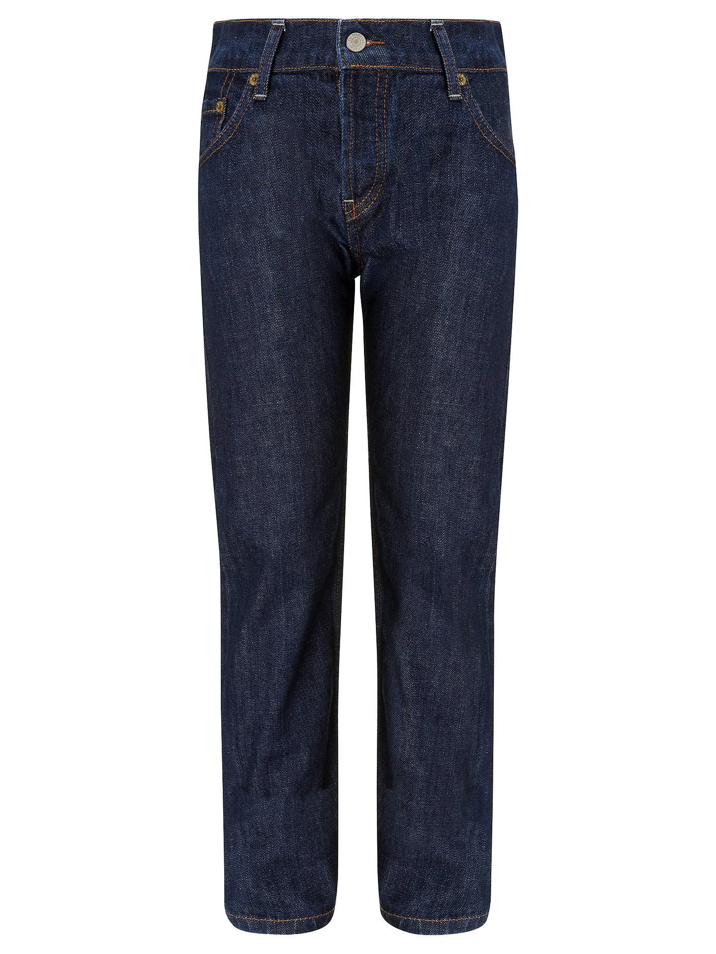 c9fbcd58d310a4 Buy Levi's 501 Boys' Straight Danny Dark Denim Jeans , Blue, 14 years  Online ...