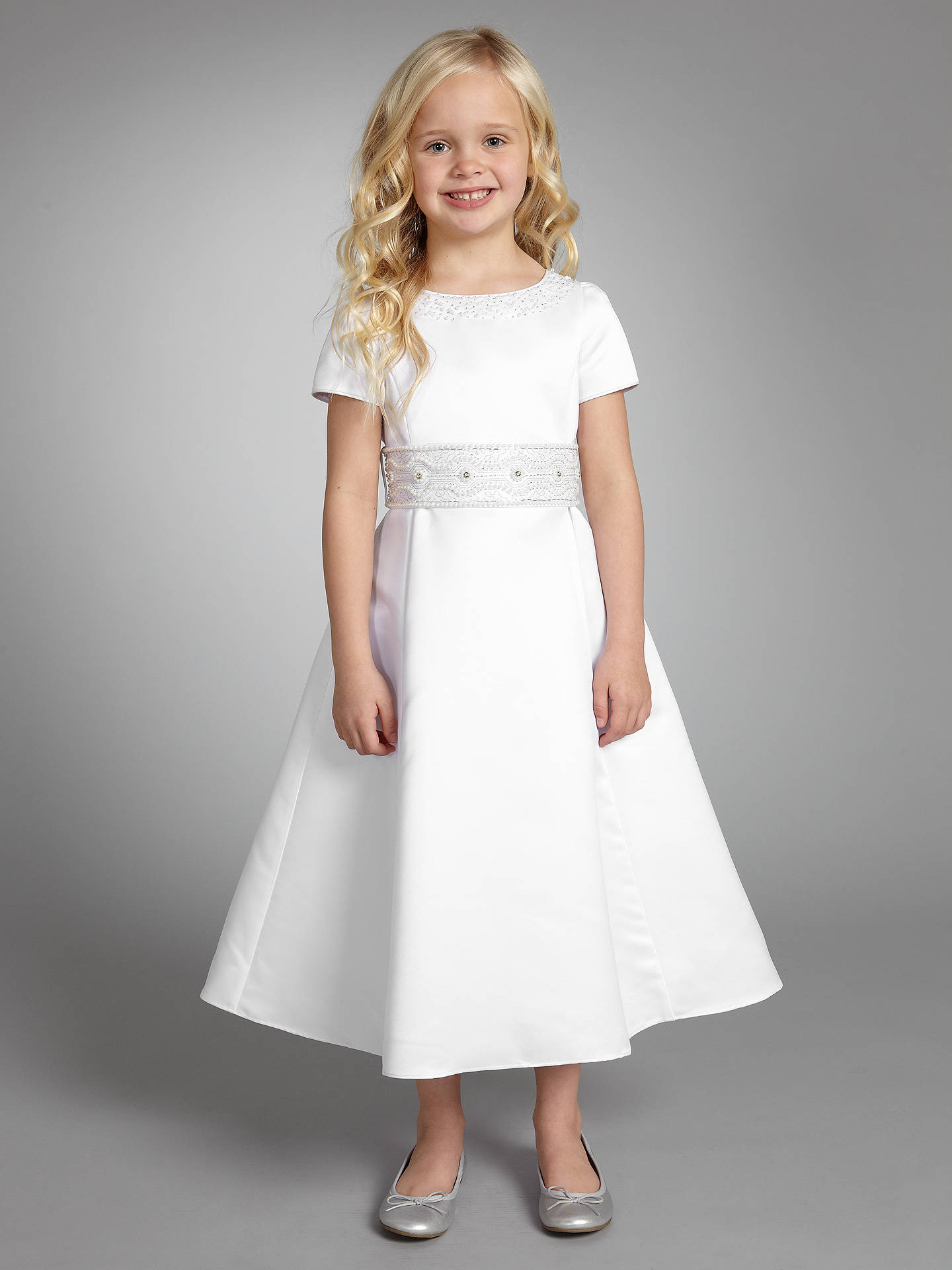 cc38569d0 Buy John Lewis Girl Holy Communion Dress, White, 4 years Online at  johnlewis.