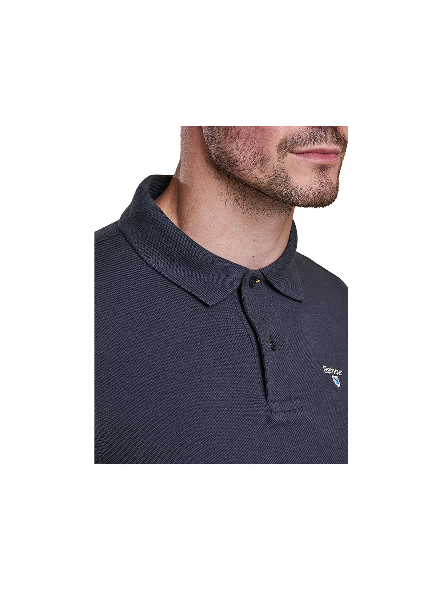 BuyBarbour Lifestyle Sports Cotton Short Sleeve Polo Shirt, Navy, S Online at johnlewis.com