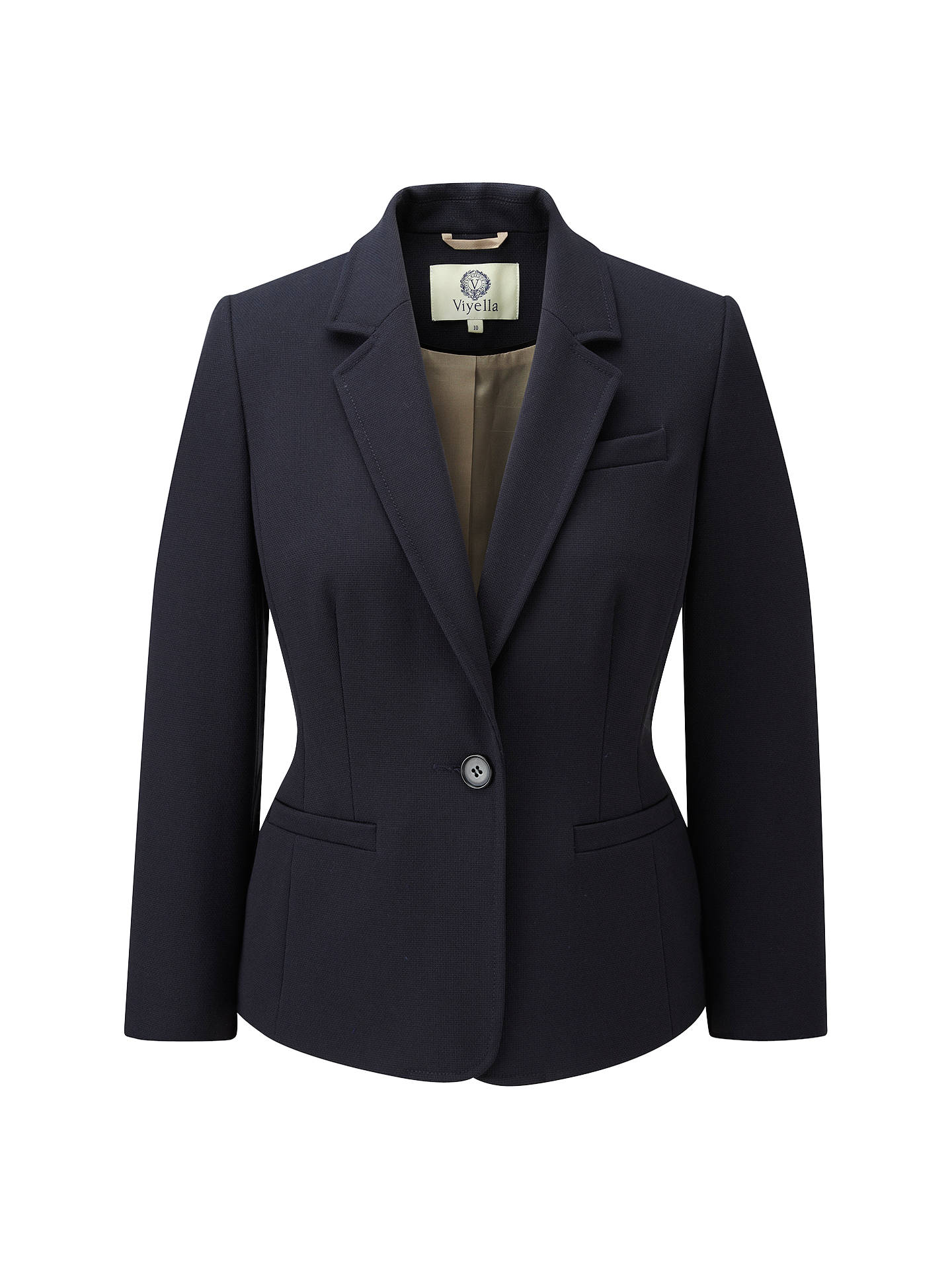Viyella Textured Blazer Navy At John Lewis Partners