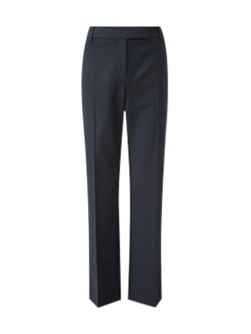Viyella Straight Leg Trousers 32 Long Length Navy At John Lewis Partners