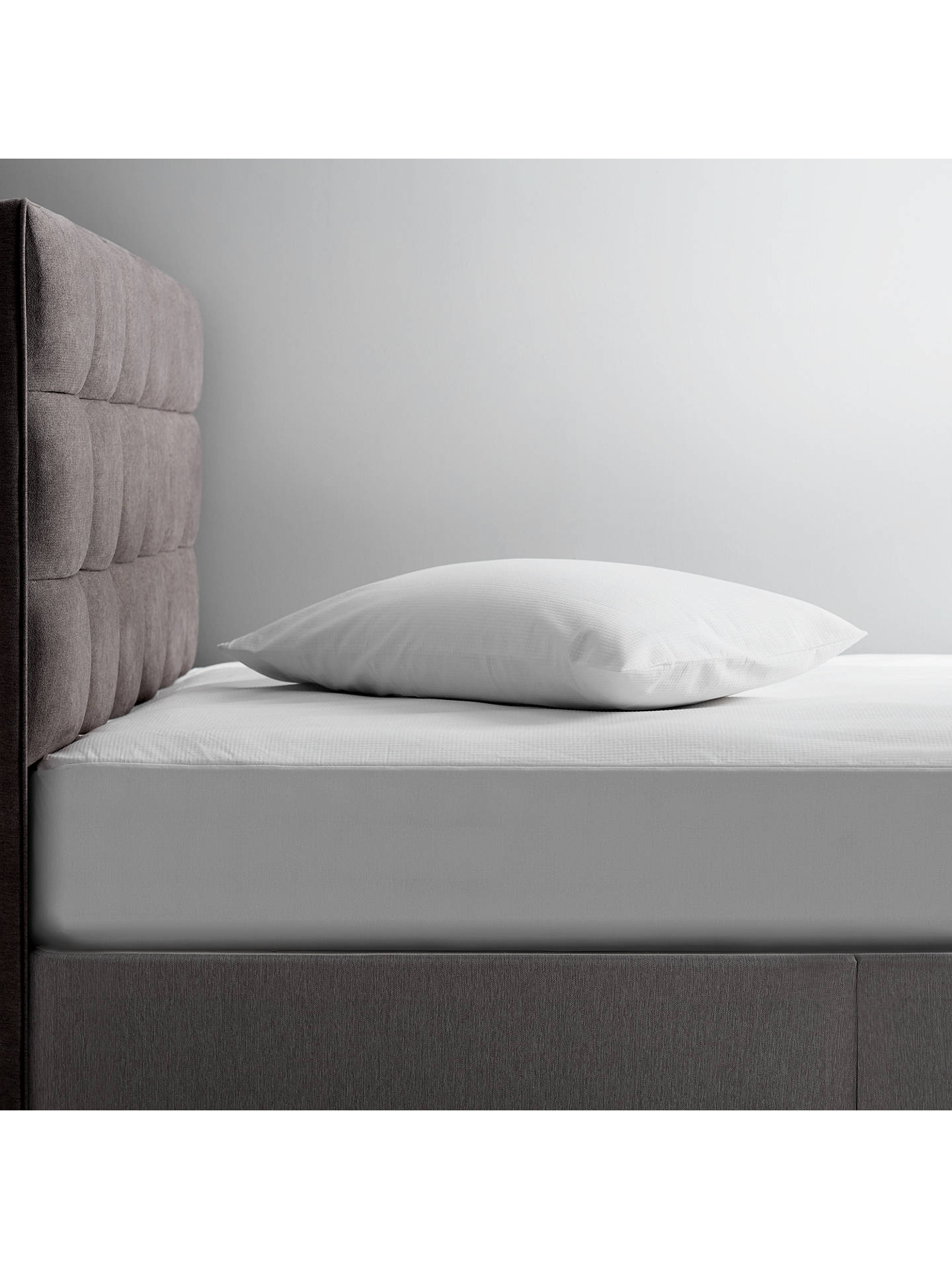Buy Tempur Water Resistant Mattress Protector, White, Depth 21-30cm Online at johnlewis.com