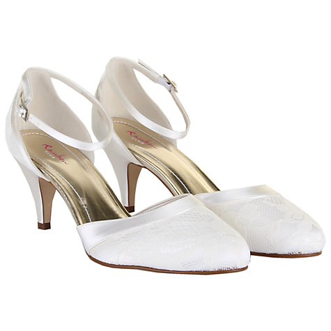 Buy Rainbow Club Penny Lace Ankle Strap Court Shoes, Ivory Online at johnlewis.com