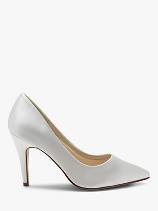Rainbow Club Vivian Satin Point Toe Court Shoes, Ivory