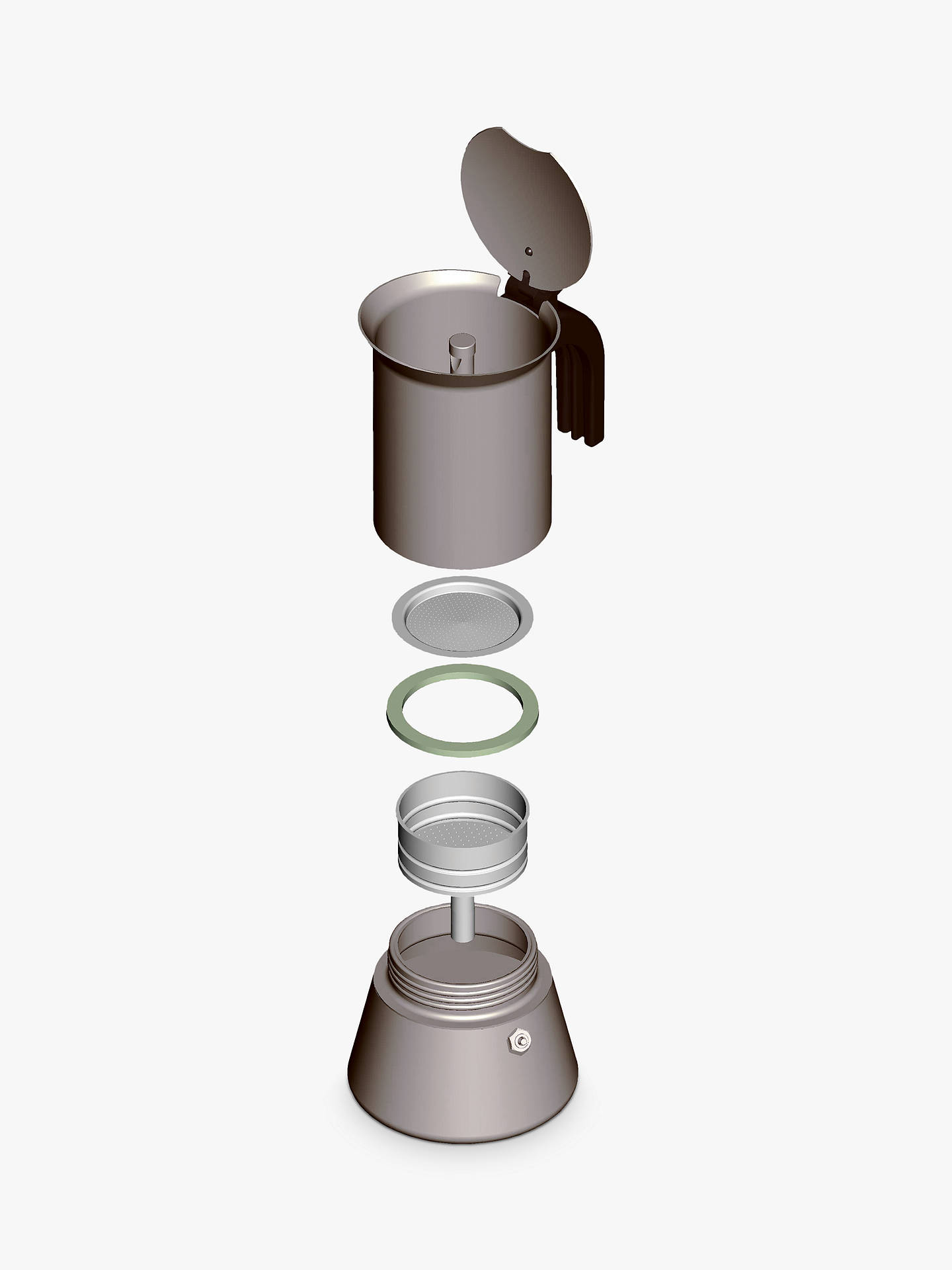 Bialetti Venus Induction Stove Top Coffee Maker 6 Cup Online At Johnlewis