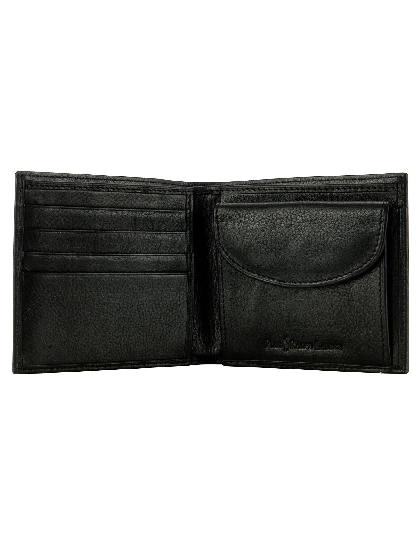 BuyPolo Ralph Lauren Pebble Leather Wallet, Black Online at johnlewis.com