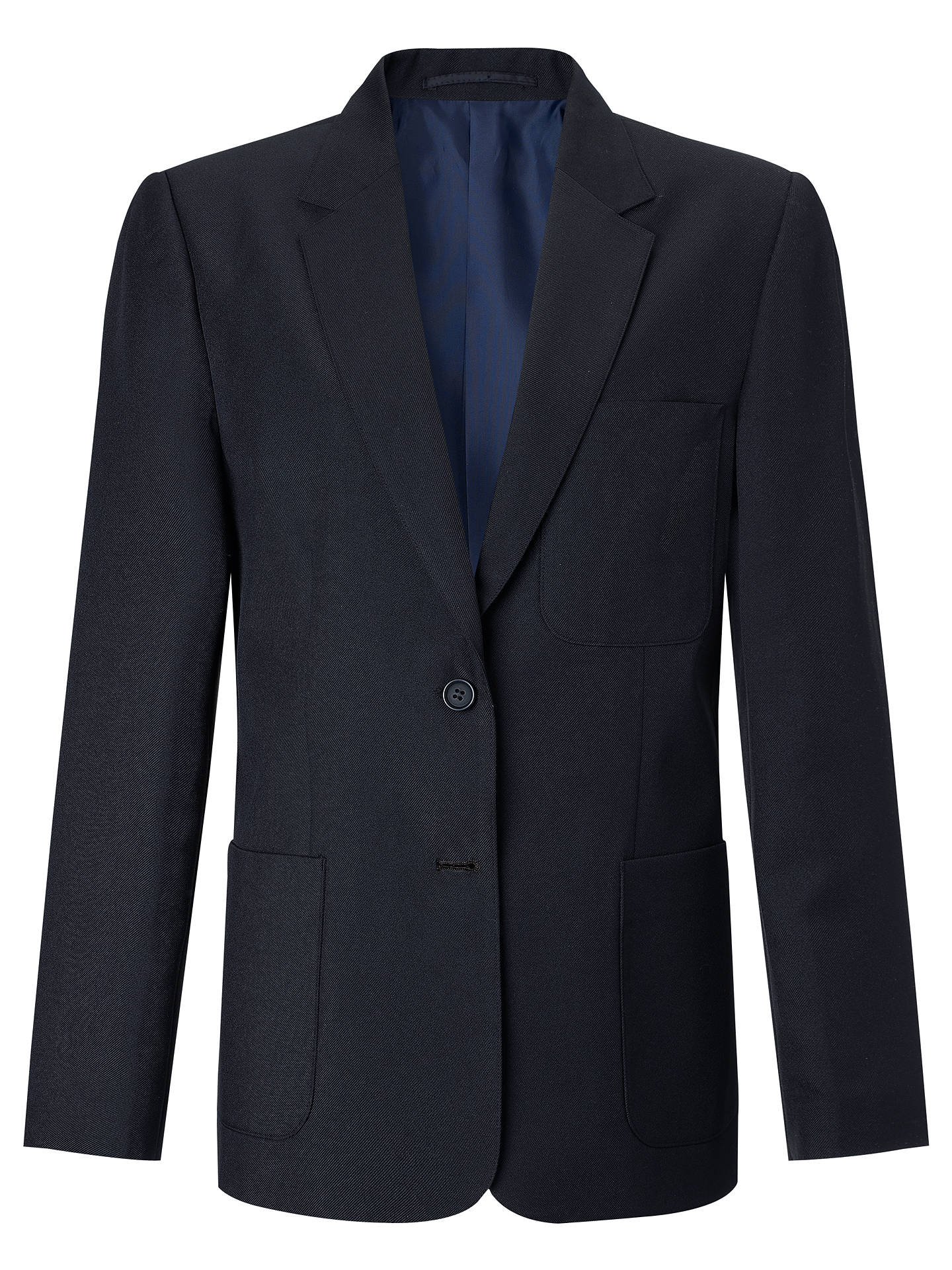 "BuyJohn Lewis & Partners Girls' School Eco Blazer, Navy, Chest 22"" / 3-4 years Online at johnlewis.com"