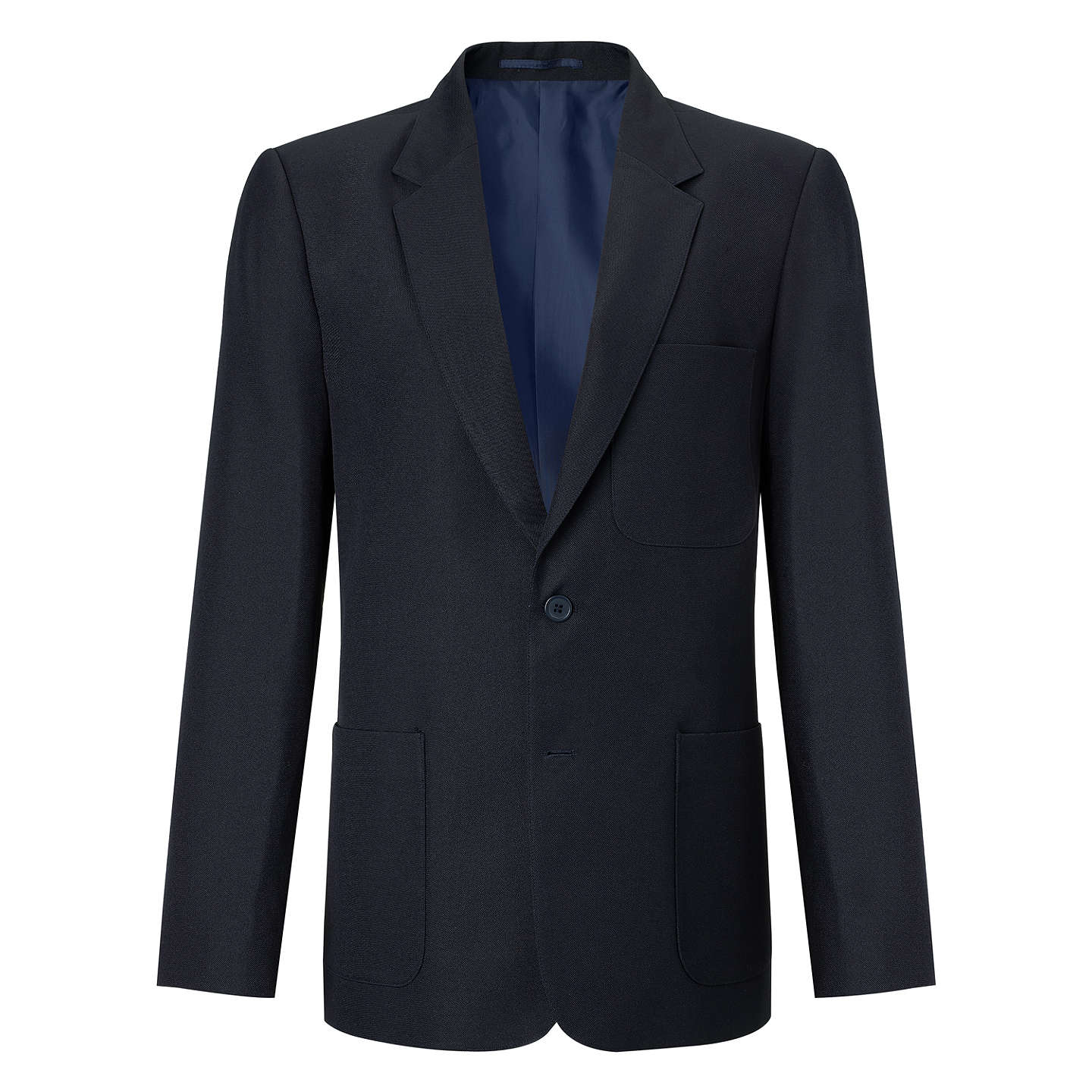 "BuyJohn Lewis Boys' School Eco Blazer, Navy, Chest 22"" / 3-4 years Online at johnlewis.com"