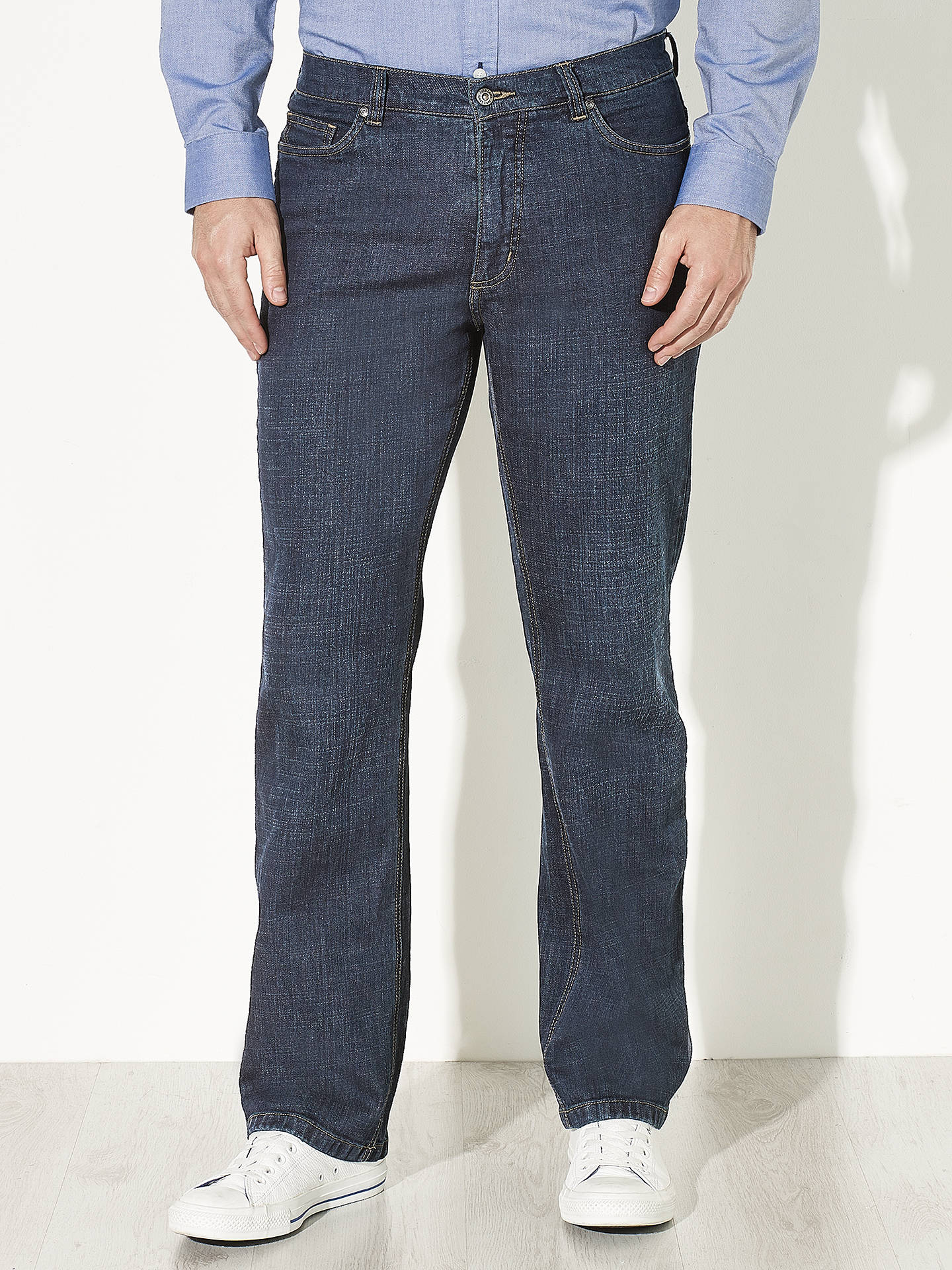 b02f7f3555801 John Lewis Stretch Ringspun Bootleg Denim Jeans at John Lewis   Partners