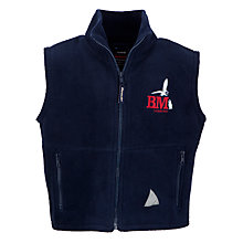 Buy Bourton Meadow Academy Fleece Gilet, Navy Online at johnlewis.com