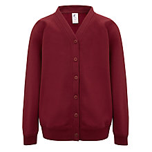 Buy The Red Maids' Junior School Girls' Plain Sweater Cardigan, Maroon Online at johnlewis.com