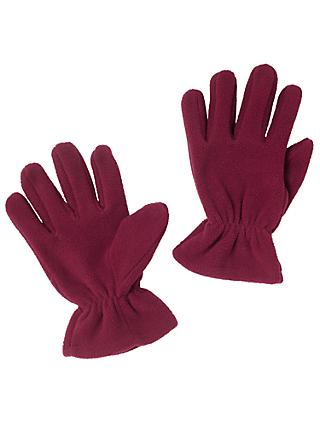 School Fleece Gloves, Maroon