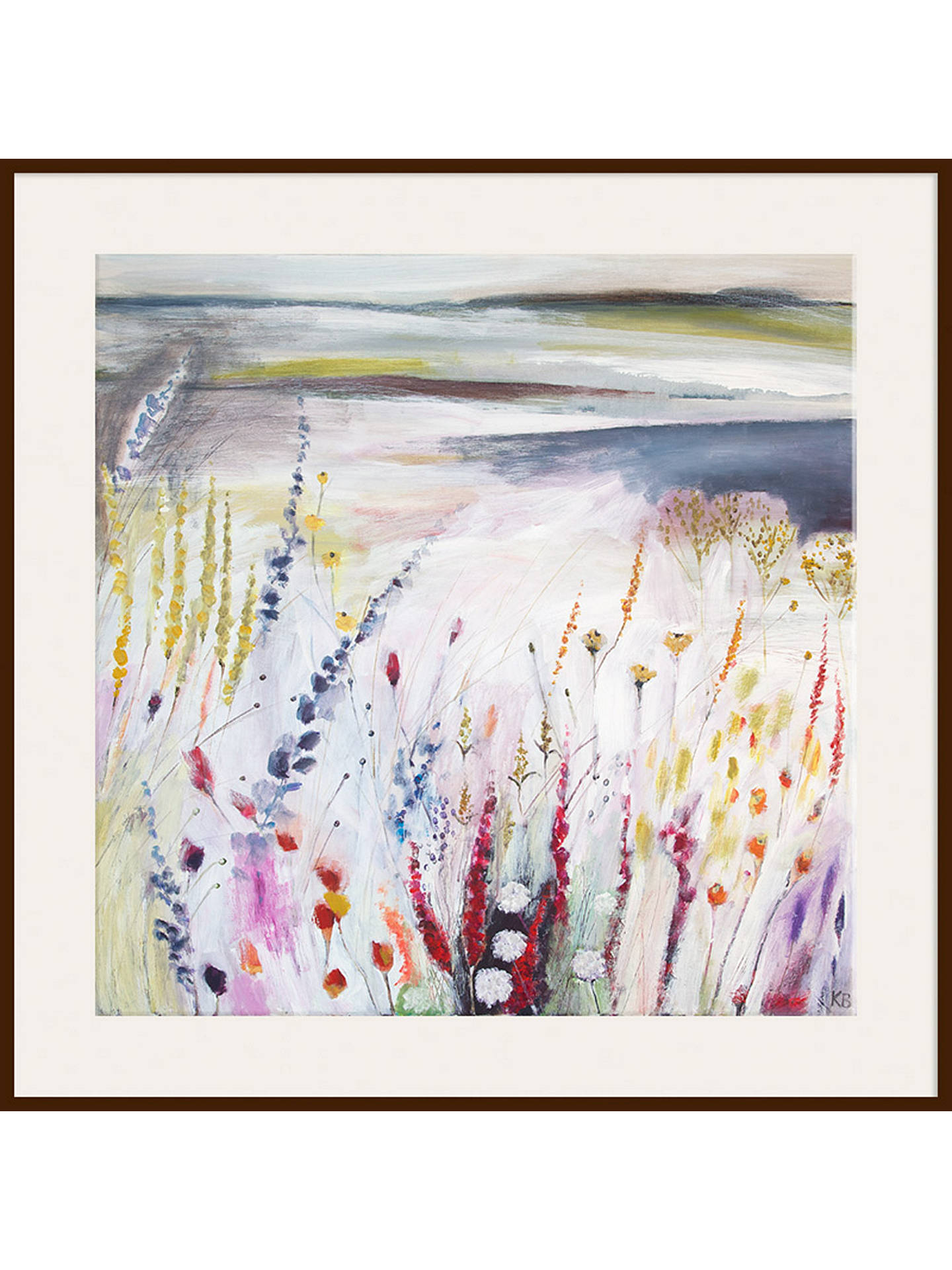 Buy Karen Birchwood - Before the Rain, Dark Brown Framed Print, 40 x 40cm Online at johnlewis.com