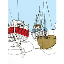 Buy Gillian Bates - Boats on the Shore Online at johnlewis.com