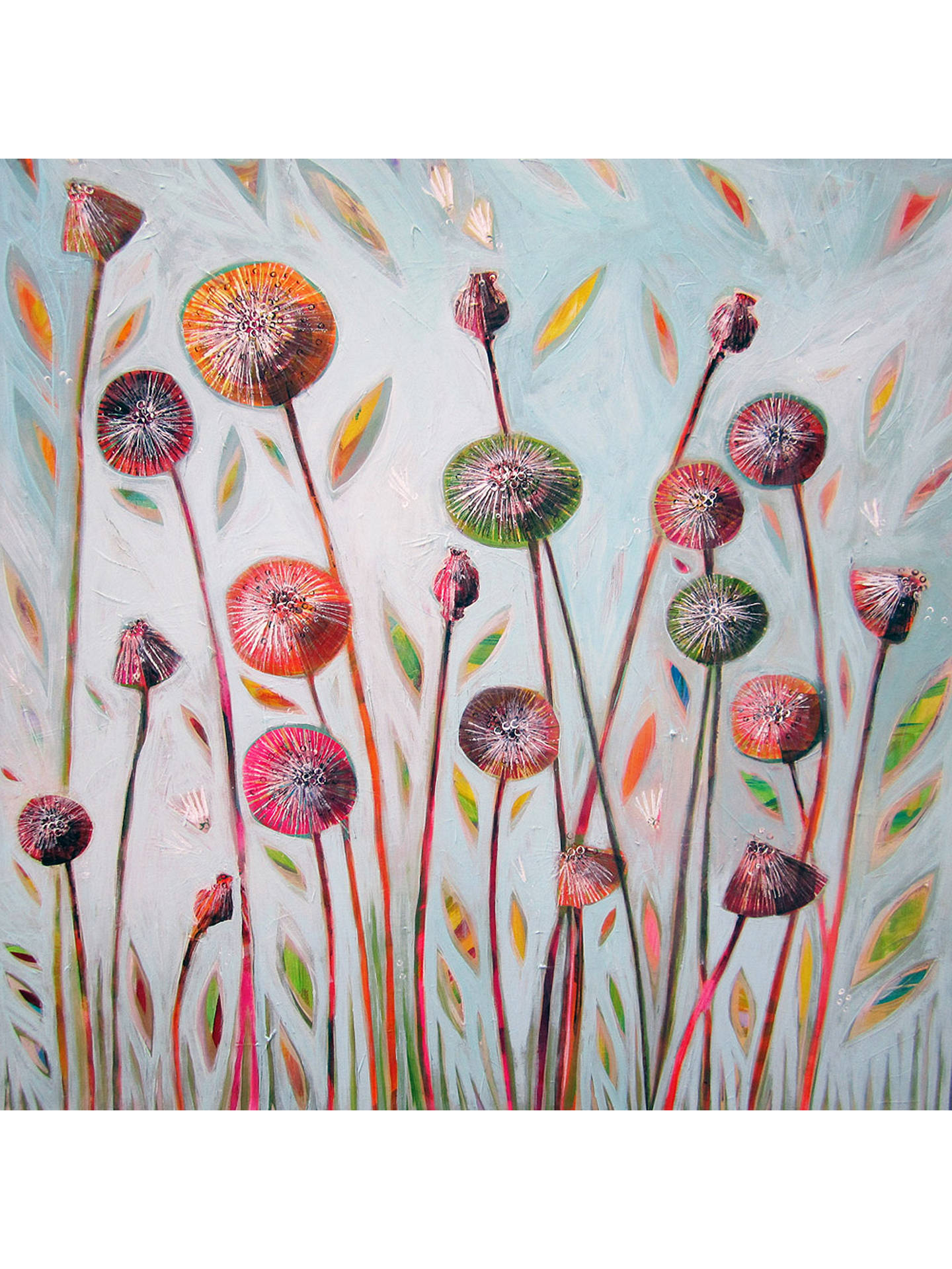 BuyShyama Ruffell - Dandelion Blue, Stretched Canvas, 110 x 110cm Online at johnlewis.com