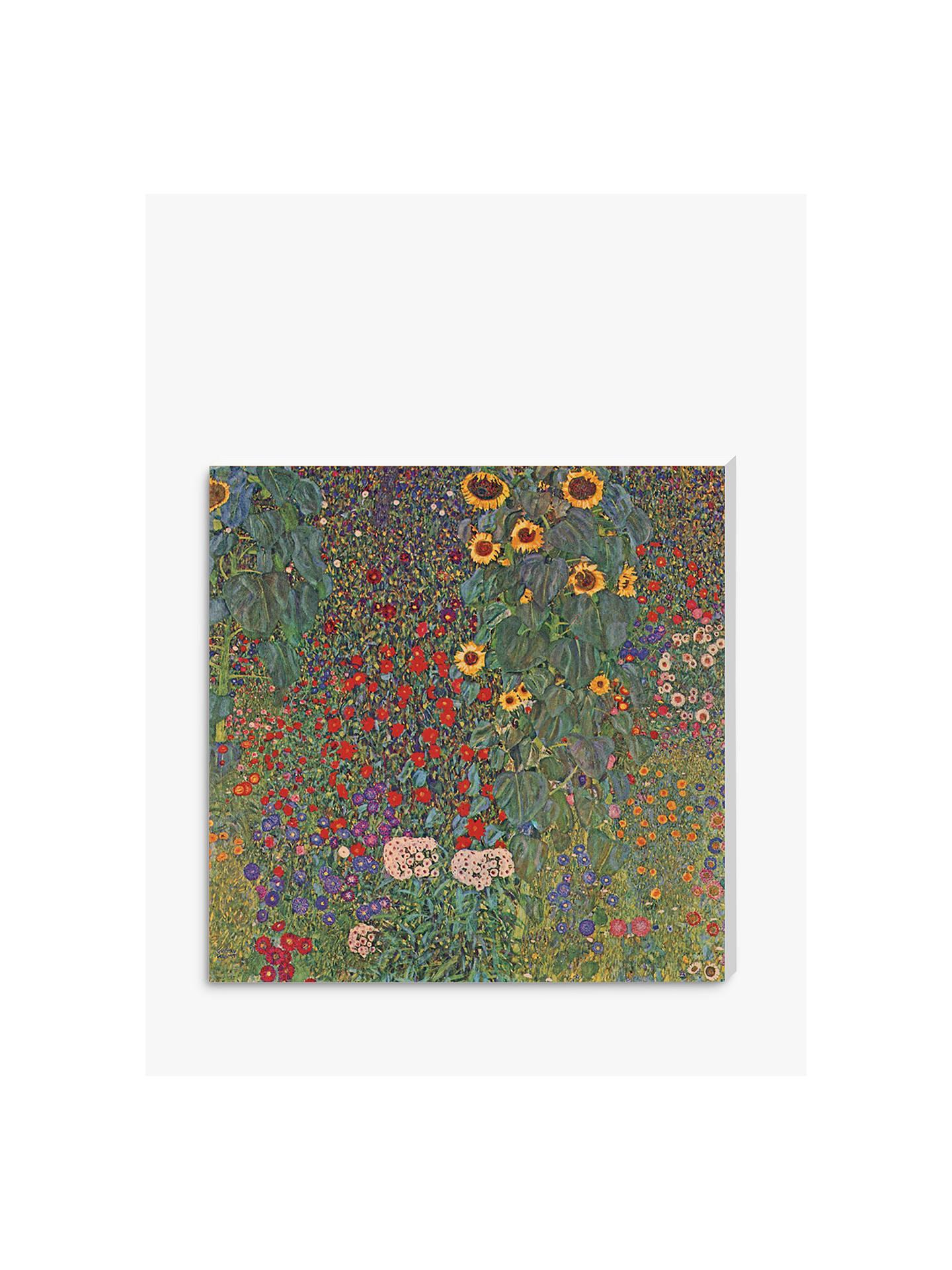 BuyGustav Klimt - Farm Garden with Sunflowers, Stretched Canvas, 40 x 40cm  Online at