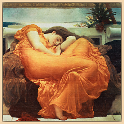 Frederick Lord Leighton – Flaming June