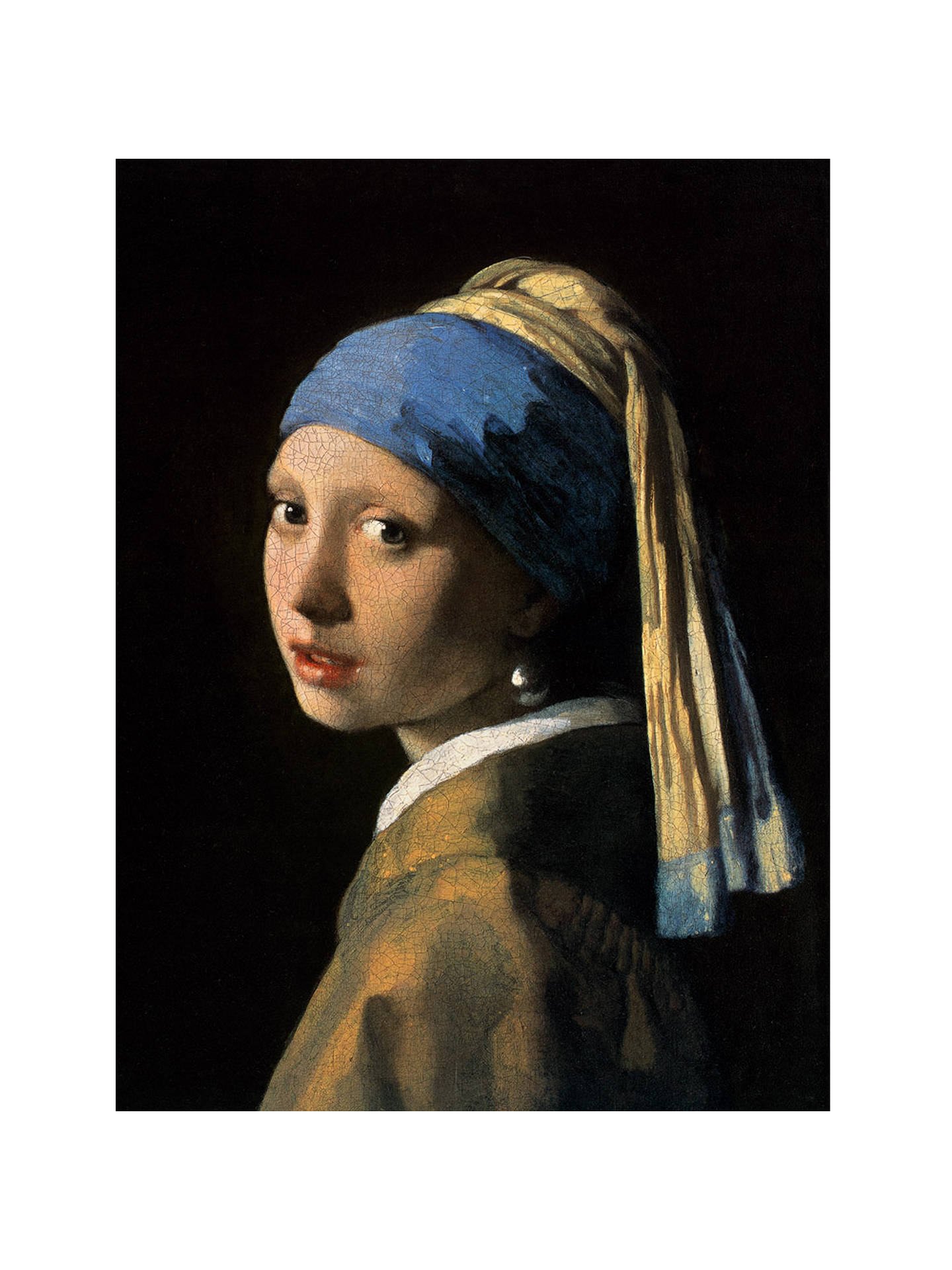 Buy Johannes Vermeer - Girl with a Pearl Earring, Stretched Canvas, 60 x 80cm Online at johnlewis.com