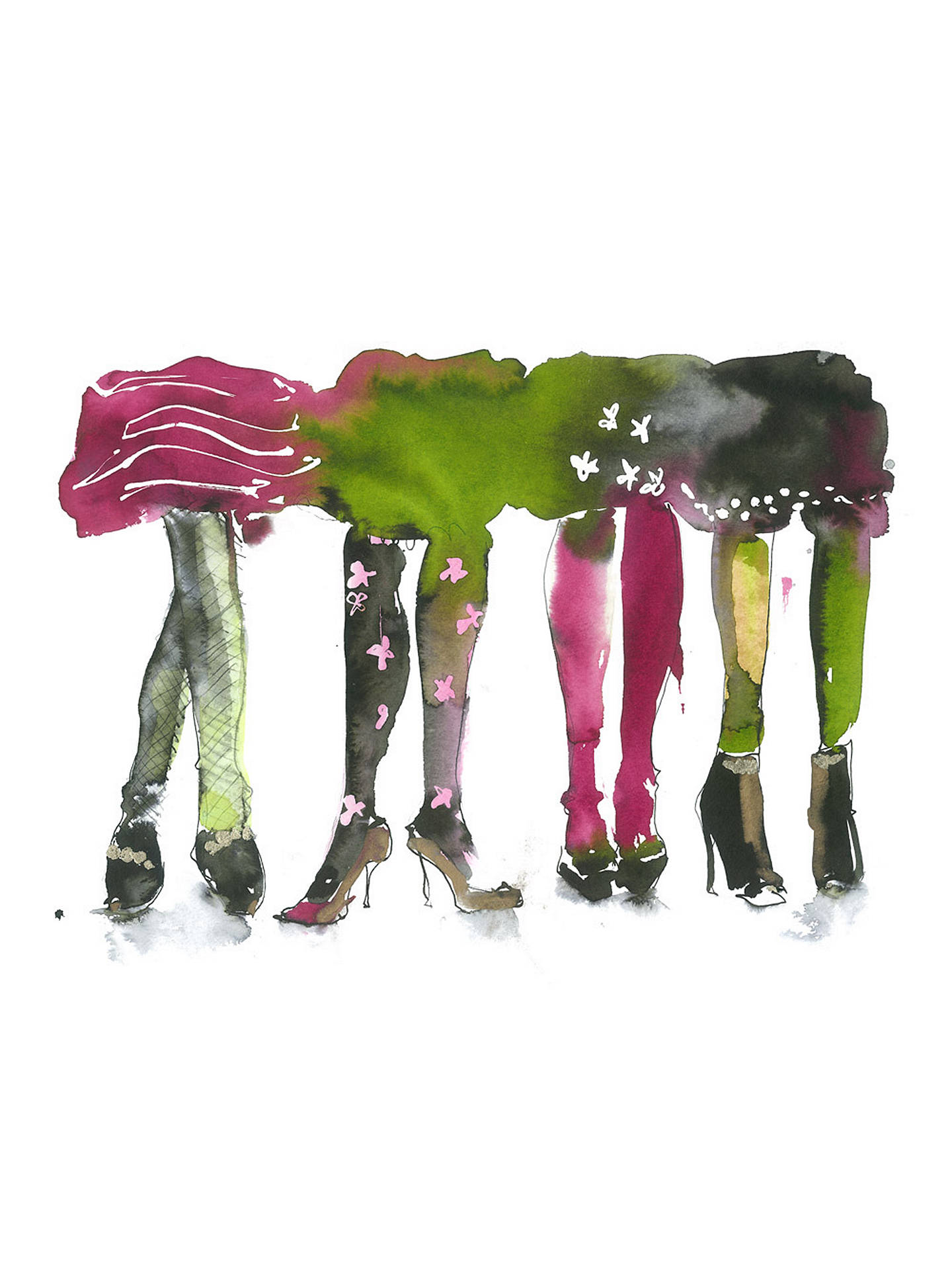 BuyBridget Davies - Glamorous Legs, Stretched Canvas, 40 x 50cm Online at johnlewis.com