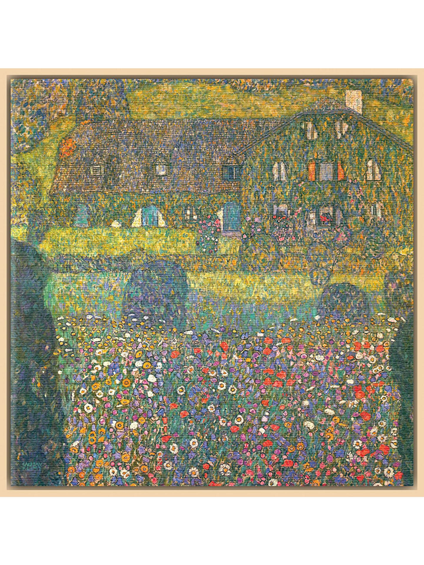 BuyGustav Klimt - House in Attersee, Natural Ash Framed Canvas, 40 x 40cm  Online ...
