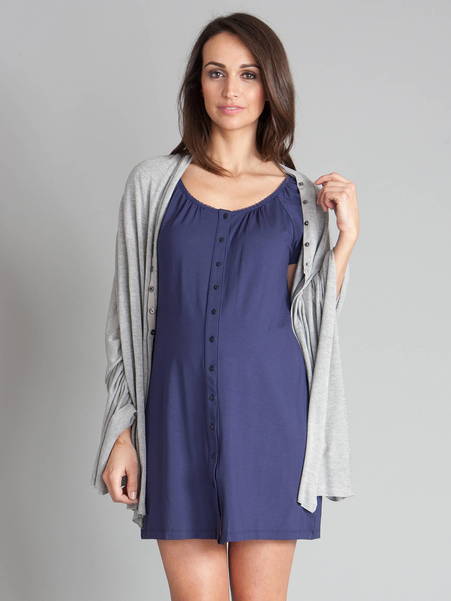 a3ede9c2743b2 ... Buy Séraphine Gemma Button Down Maternity Nightie, Navy, 16 Online at  johnlewis.com ...