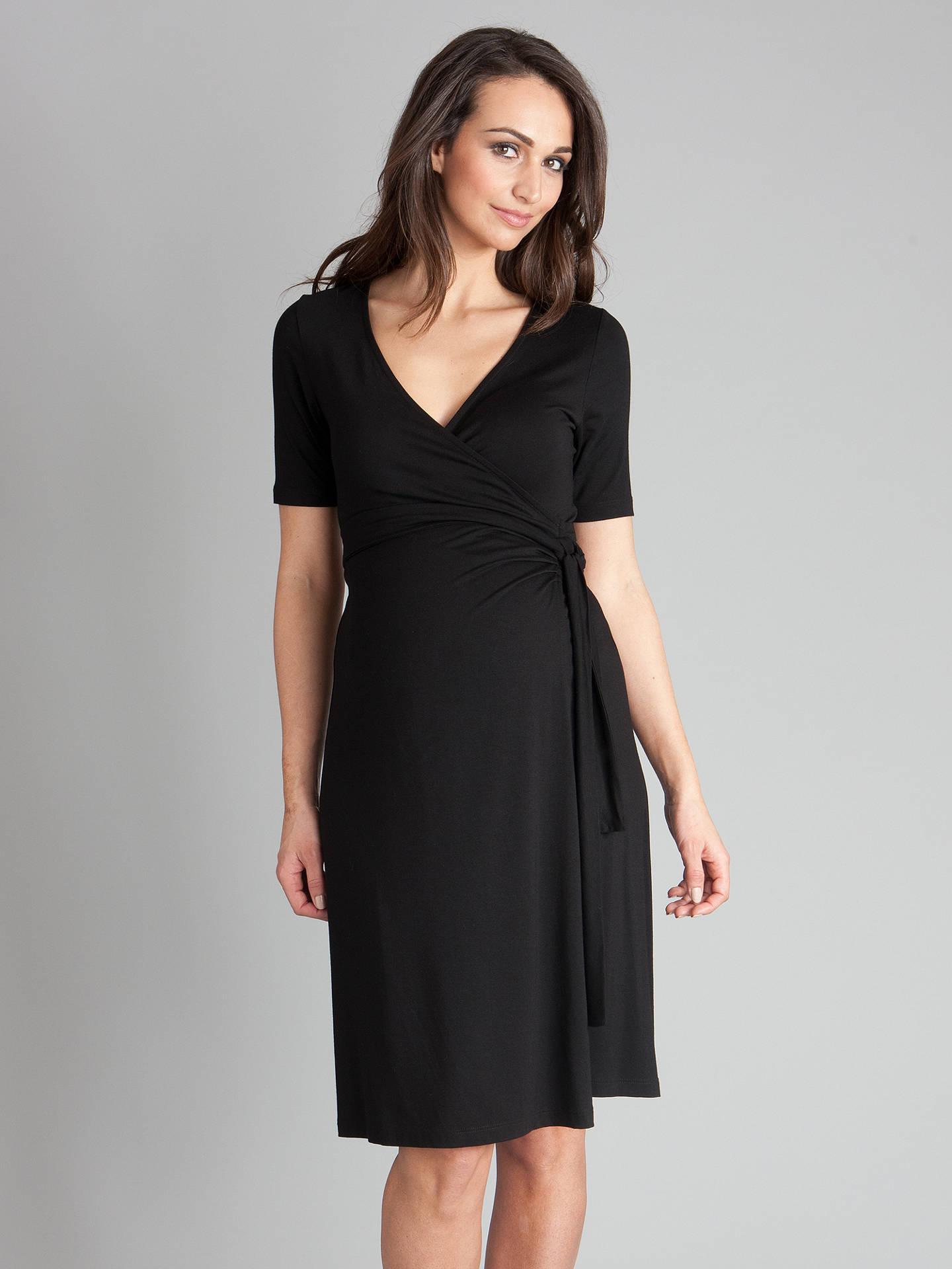 Seraphine Black Wrap Maternity Dress Work//Party 10