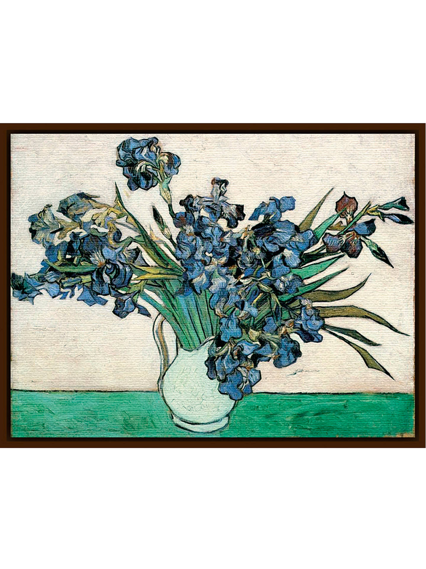 BuyVan Gogh - Vase of Irises, Dark Brown Framed Canvas, 60 x 80cm Online at johnlewis.com